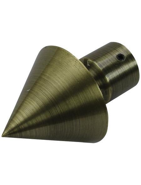 LIEDECO Endstück, Blues, Kegel, 20 mm, Bronze