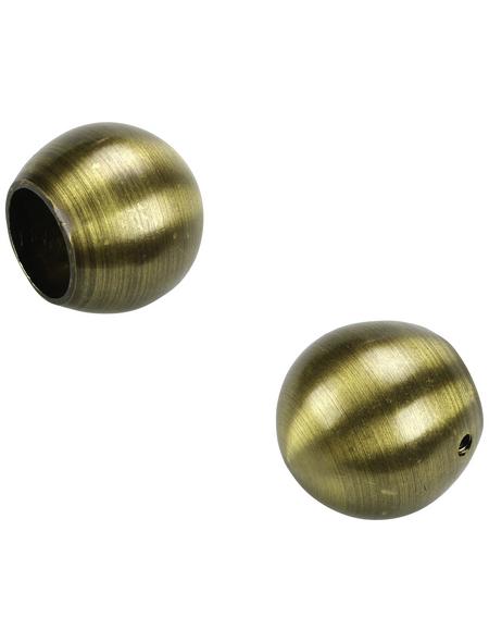 LIEDECO Endstück, Blues, Kugel, 20 mm, Bronze