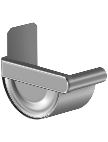 SAREI Endstück, halbrund, Nennweite: 125 mm, Aluminium