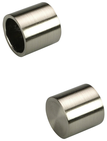 LIEDECO Endstück, Kappe, 16 mm, 2 Stück, Silber