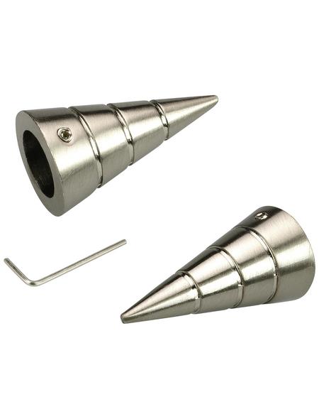 LIEDECO Endstück, Kegel, 16 mm, 2 Stück, Silber