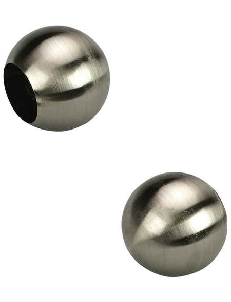 LIEDECO Endstück, Kugel, 16 mm, 2 Stück, Silber
