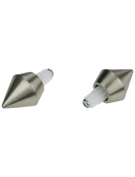 LIEDECO Endstück, Madrid, Kegel, 12 mm, 2 Stück, Silber
