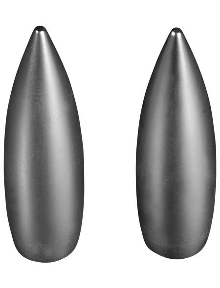 LIEDECO Endstück, Oval, 16 mm, 2 Stück, Silber