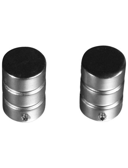 LIEDECO Endstück, Zylinder, 16 mm, 2 Stück, Silber