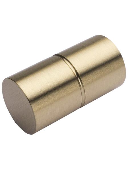 LIEDECO Endstück, Zylinder, 20 mm, Edelstahl