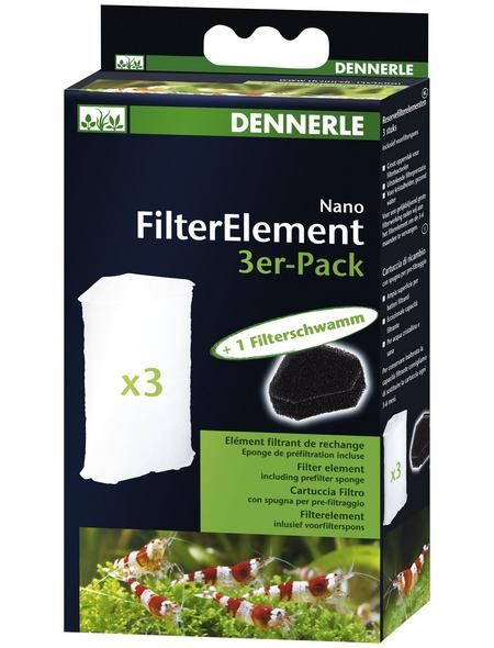 DENNERLE Ersatz-Filterelemente »Ersatzkartusche«, BxHxL: 3,5  x 17  x 9  cm, weiß