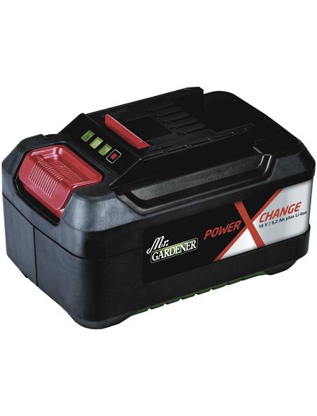 MR. GARDENER Ersatzakku, 18V/5.2Ah für Alle Power-X-Change-Geräte