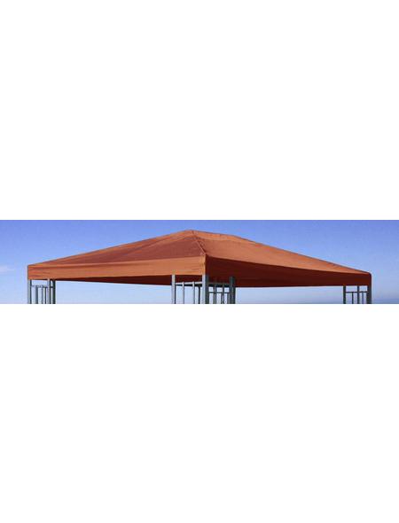 GRASEKAMP Ersatzdach, Breite: 300 cm, Dach: 100% Polyester mit PVC Beschichtung, terrakottafarben