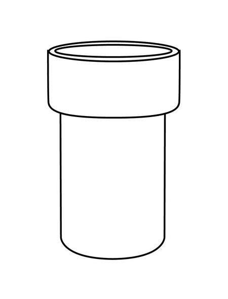 TIGER Ersatzglas für Toilettenbürste »Items«, Glas, weiß