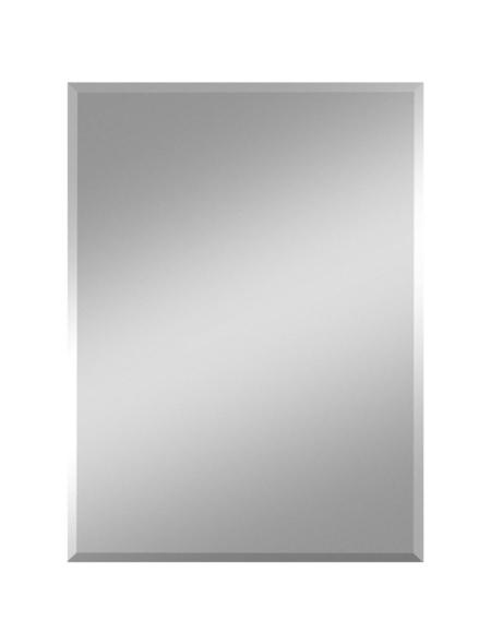 KRISTALLFORM Facettenspiegel »Gennil«, rechteckig, BxH: 30 x 40 cm, silberfarben