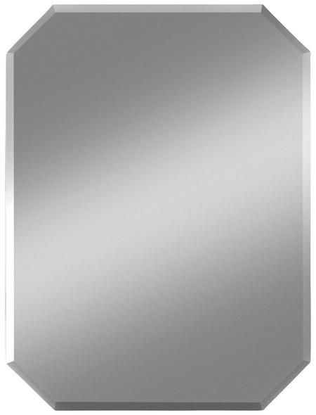 KRISTALLFORM Facettenspiegel »Suma«, rechteckig, BxH: 45 x 60 cm, silberfarben