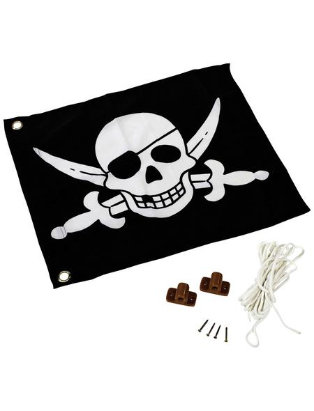 AKUBI Fahne, BxHxL: 10 x 0,5 x 10 cm, schwarz