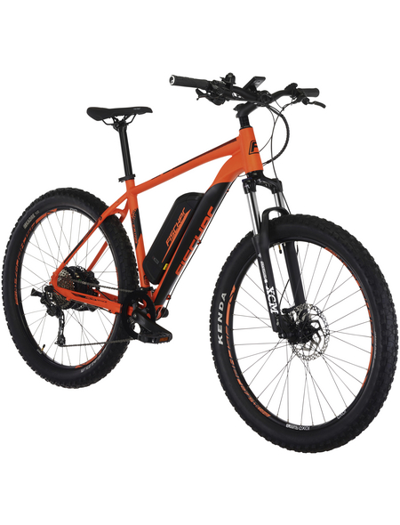 "FISCHER FAHRRAEDER Fahrrad Orange 27,5 "", 9-gang, 11.6ah"
