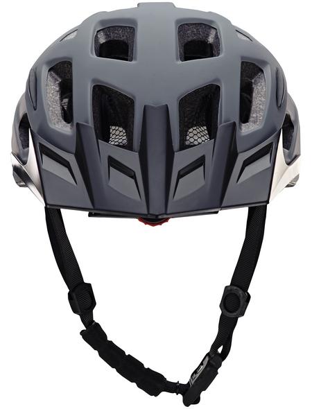 PROPHETE Fahrradhelm, 58 - 61 cm, grau/schwarz