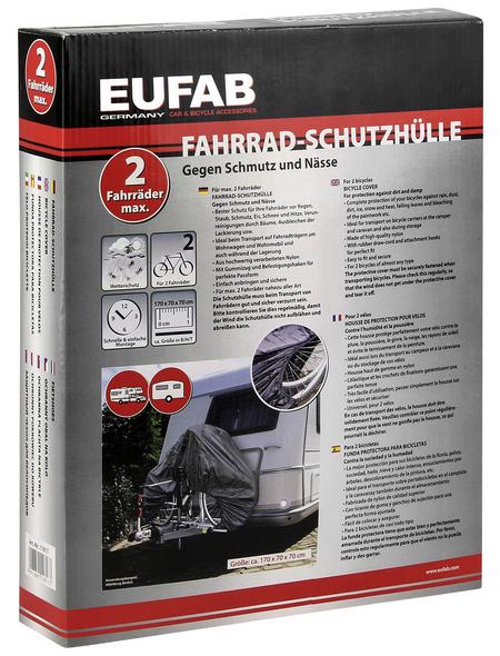 EUFAB Fahrradschutzhülle, 170 x 70 x 70 cm, schwarz