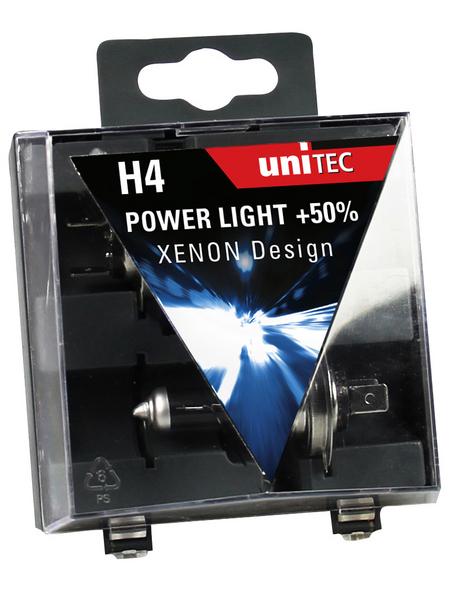 UNITEC Fahrzeugscheinwerferlampe »Power Light«, H4, 60/55 W