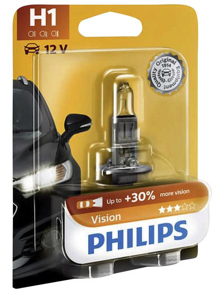 PHILIPS Fahrzeugscheinwerferlampe »Premium«, H1, 55 W