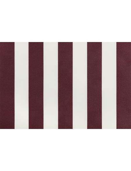 GO/ON! Fallarmmarkise, BxT: 250 x 150 cm, bordeauxrot/weiss gestreift