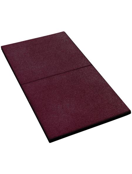 AKUBI Fallschutzmatten, BxHxL: 50 x 2,5 x 50 cm, rot
