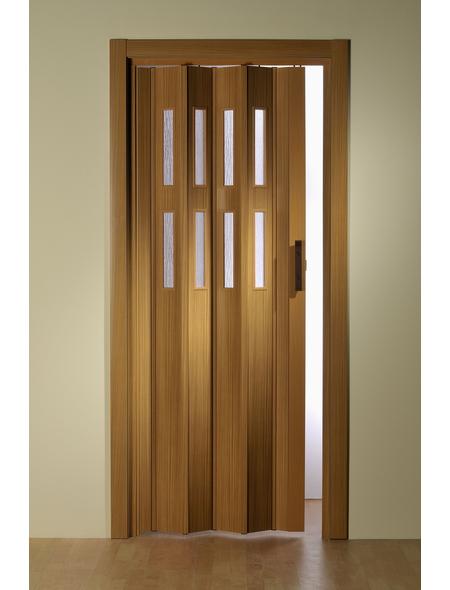 FORTE Falttür »Luciana«, Dekor: Buche, Lamellenfenster: 2, Höhe: 202 cm
