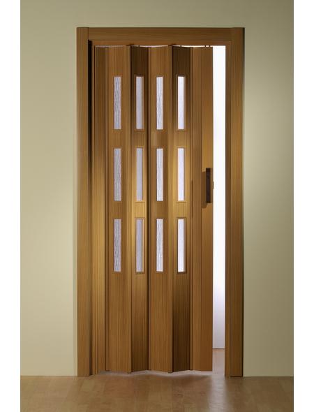 FORTE Falttür »Luciana«, Dekor: Buche, Lamellenfenster: 3, Höhe: 250 cm