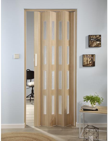 FORTE Falttür »Luciana«, Dekor: Esche, Lamellenfenster: 4, Höhe: 202 cm