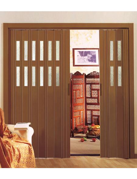 FORTE Falttür »Luciana«, Dekor: mahagoni, Lamellenfenster: 2, Höhe: 202 cm