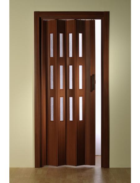 FORTE Falttür »Luciana«, Dekor: mahagoni, Lamellenfenster: 3, Höhe: 250 cm
