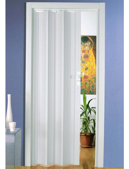 FORTE Falttür »Luciana«, Dekor: Weiß, Lamellenfenster: 2, Höhe: 202 cm