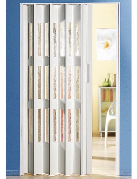 FORTE Falttür »Luciana«, Dekor: Weiß, Lamellenfenster: 3, Höhe: 250 cm