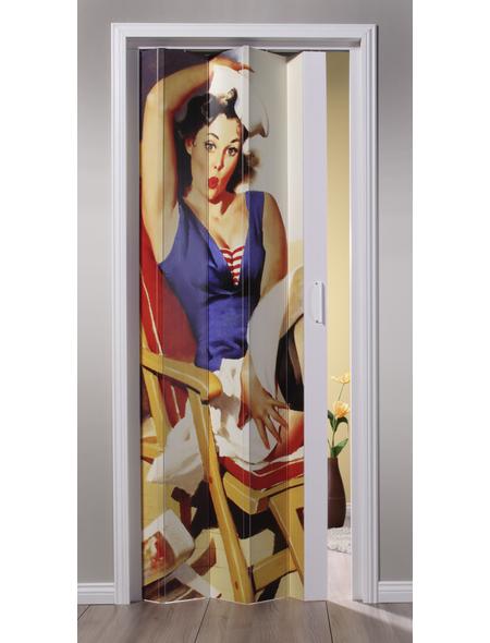 FORTE Falttür »Vera«, Dekor: Frau, ohne Fenster, Höhe: 204 cm