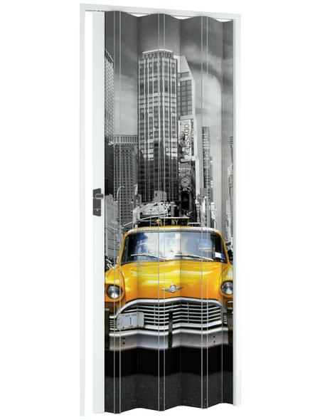 FORTE Falttür »Vera«, Dekor: Skyline, ohne Fenster, Höhe: 204 cm