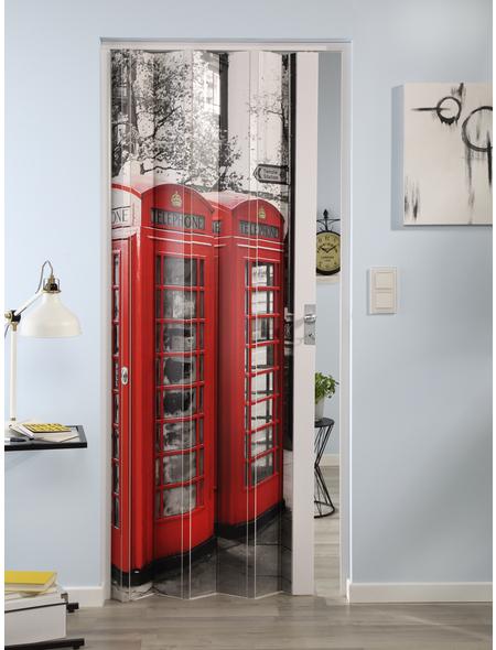 FORTE Falttür »Vera«, Dekor: Telefon, ohne Fenster, Höhe: 204 cm