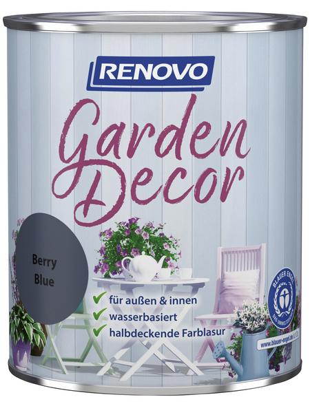 RENOVO Farblasur »Garden Decor«, für innen & außen, 0,75 l, Blau, seidenmatt
