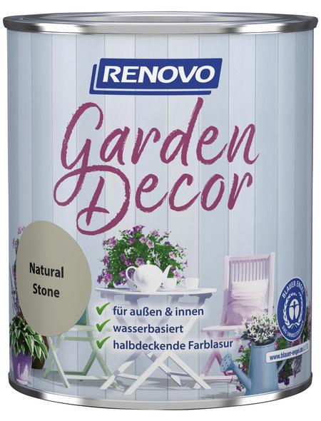 RENOVO Farblasur »Garden Decor«, für innen & außen, 0,75 l, grau, seidenmatt