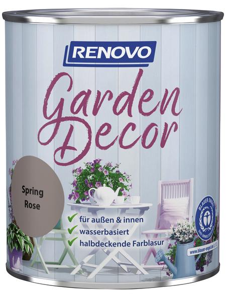 RENOVO Farblasur »Garden Decor«, für innen & außen, 0,75 l, Rosa, seidenmatt