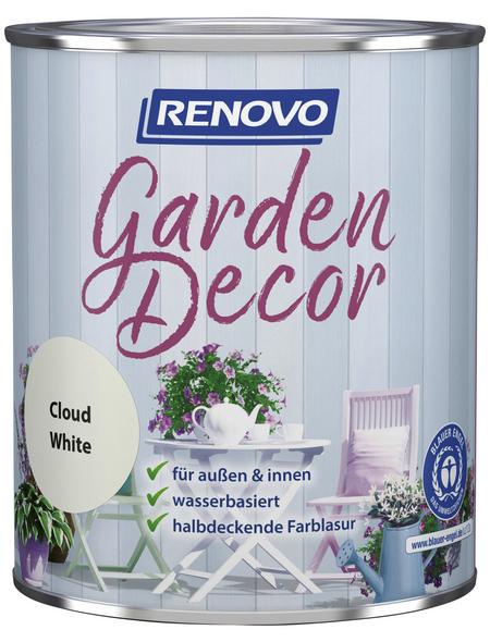 RENOVO Farblasur »Garden Decor«, für innen & außen, 0,75 l, weiß, seidenmatt