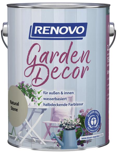 RENOVO Farblasur »Garden Decor«, für innen & außen, 2,5 l, grau, seidenmatt