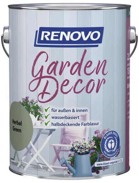 RENOVO Farblasur »Garden Decor«, für innen & außen, 2,5 l, Grün, seidenmatt