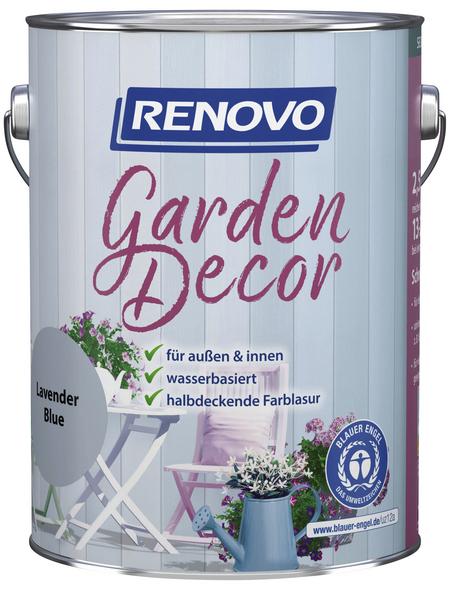 RENOVO Farblasur »Garden Decor«, für innen & außen, 2,5 l, Lavendel, seidenmatt