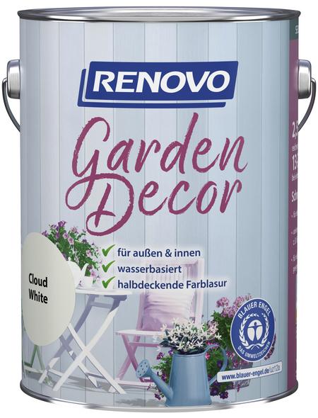 RENOVO Farblasur »Garden Decor«, für innen & außen, 2,5 l, weiß, seidenmatt