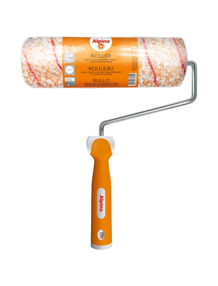 ALPINA Farbroller, Kunststoff | Polyamid (PA) | Metall, Weiß | Orange