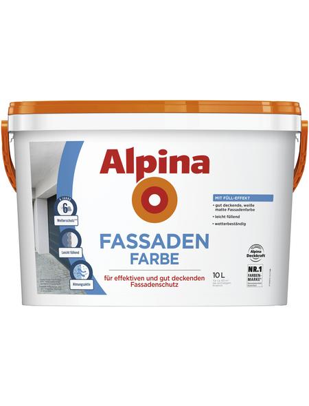 ALPINA Fassadenfarbe,  weiß,  10 l