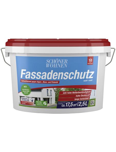 SCHÖNER WOHNEN Fassadenfarben »Fassadenschutz«, weiß, matt, 2,5 l