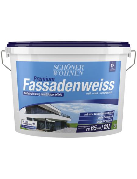 SCHÖNER WOHNEN Fassadenfarben »Premium Fassadenweiss«, weiß, matt, 10 l