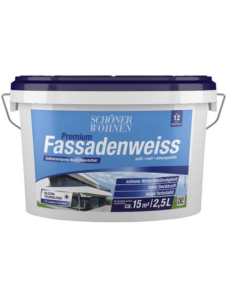 SCHÖNER WOHNEN Fassadenfarben »Premium Fassadenweiss«, weiß, matt, 2,5 l