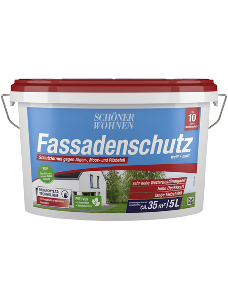 SCHÖNER WOHNEN FARBE Fassadenschutz weiß 5 l
