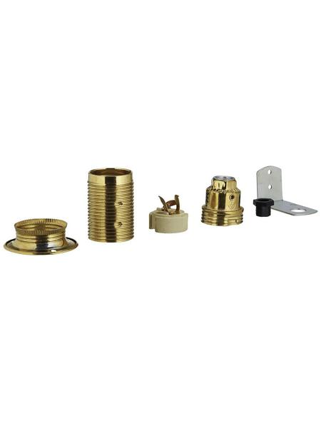 REV Fassung, Eisen, E14, 250 V, goldfarben