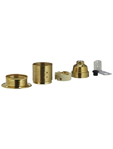REV Fassung, Eisen, E27, 250 V, goldfarben